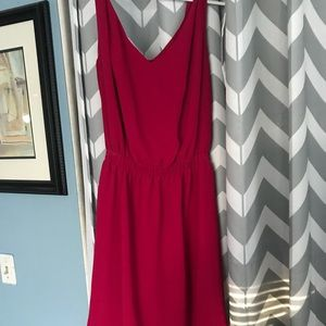 Pink BCBG dress with cut out